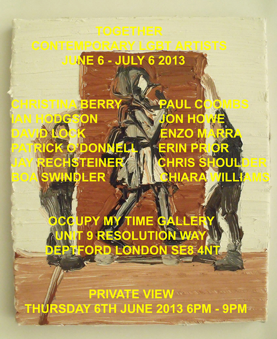 Paul Coombs, artist, se8, occupy my time, gallery, Enzo Marra, lgbt, art, south east london, exhibition, 2013, london, Deptford, London, gay